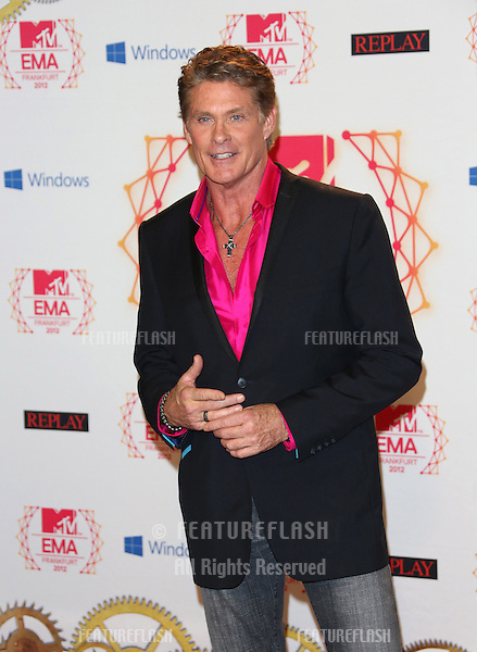 David Hasselhoff in the press room for the The MTV EMA's 2012 held at Festhalle, Frankfurt, Germany. 11/11/2012 Picture by: Henry Harris / Featureflash