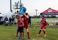 Carson, CA -  July 16, 2017: In the 2016-17 U.S. Soccer Development Academy U-17/18 Championships the Texans SC Houston defeated the LA Galaxy 2-1 to take home the hardware at StubHub center.