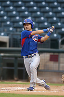 Ho-young Son #2 of the AZL Cubs bats against the AZL Rangers at Surprise Stadium on July 6, 2014 in Surprise, Arizona. AZL Rangers defeated the AZL Cubs, 7-5. (Larry Goren/Four Seam Images)