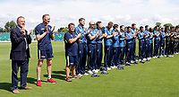 Kent players minutes applause in memory of the victims of the London Bridge attack during the Royal London One Day Cup game between Kent and Gloucestershire at the County Ground, Beckenham, on June 3, 2018