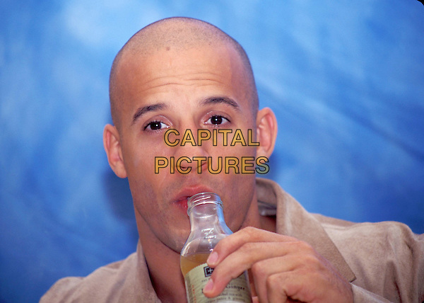 VIN DIESEL.Ref: ND.blad, headshot, portrait, drinking.*RAW SCAN - photo will be adjusted for publication*.www.capitalpictures.com.sales@capitalpictures.com.© Capital Pictures.