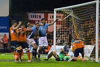 Blackpool's Kelvin Mellor (right) celebrates scoring his sides third goal to make the score 3-3 on the night and win the tie on aggregate<br /> <br /> Photographer Craig Mercer/CameraSport<br /> <br /> The EFL Sky Bet League Two Play-Off Semi Final Second Leg - Luton Town v Blackpool - Thursday 18th May 2017 - Kenilworth Road - Luton<br /> <br /> World Copyright &copy; 2017 CameraSport. All rights reserved. 43 Linden Ave. Countesthorpe. Leicester. England. LE8 5PG - Tel: +44 (0) 116 277 4147 - admin@camerasport.com - www.camerasport.com