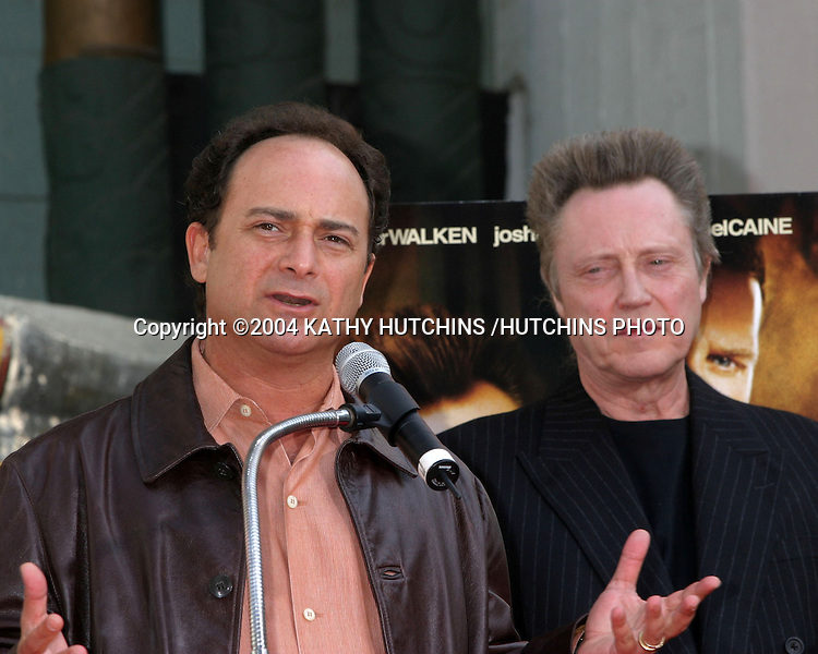 ©2004 KATHY HUTCHINS /HUTCHINS PHOTO.CHRISTOPHER WALKEN PUTS HIS HANDPRINTS AND FOOTPRINTS IN THE CEMENT AT GRAUMAN'S CHINESE THEATER IN HOLLYWOOD.Los Angeles, CA.OCTOBER 8, 2004..KEVIN POLLAK.CHRISTOPHER WALKEN