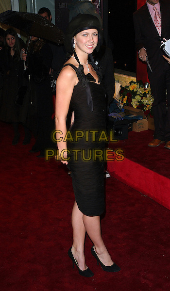 MARGO STILLEY.Pre-Bafta party, Spencer House, London, UK..February 18th, 2006 .Ref: BEL.full length black dress hat Margot Stilly hat.www.capitalpictures.com.sales@capitalpictures.com.© Capital Pictures.