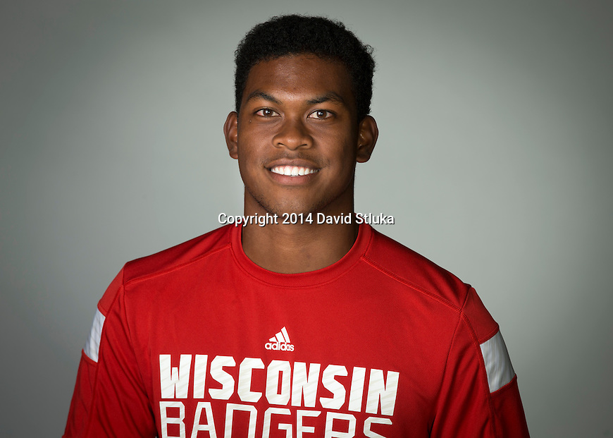 Wisconsin Badgers men's tennis player Lamar Remy. (Photo by David Stluka)