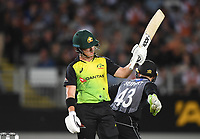 D'Arcy Short 50 not out.<br /> New Zealand Black Caps v Australia.Tri-Series International Twenty20 cricket final. Eden Park, Auckland, New Zealand. Wednesday 21 February 2018. &copy; Copyright Photo: Andrew Cornaga / www.Photosport.nz