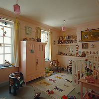 Child's bedroom decorated with Arts & Crafts furniture