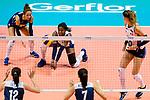 Miryam Fatime Sylla of Italy defends during the FIVB Volleyball Nations League Hong Kong match between China and Italy on May 31, 2018 in Hong Kong, Hong Kong. Photo by Marcio Rodrigo Machado / Power Sport Images