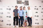 """The left to the right, the director of the film, Raul Arevalo, Antonio de la Torre, Ruth Diaz and Luis Callejo during the presentation of the spanish film """" Tarde para la Ira"""" at Cines Palafox in Madrid. September 06, Spain. 2016. (ALTERPHOTOS/BorjaB.Hojas)"""