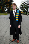 23/10/2015  Pictured at the recent Mary Immaculate College conferring ceremonies was Daragh Mansfield, Dungarven, Co. Waterford, who gradutaed with a Graduate Diploma in Education. 625 students from 20 counties and 3 continents were conferred with academic awards across the College&rsquo;s 27 programmes including the College&rsquo;s 100th PhD award.<br /> Pic: Gareth Williams / Press 22<br /> <br /> Press Release: 23rd October 2015Education is a movement of formation that enables the individual to play their role in transforming society for the common good.100th PhD Graduate Conferred at Mary Immaculate CollegeEducation is a movement of formation that enables the individual to play their role in transforming society for the common good according to Prof. Michael A Hayes, President of Mary Immaculate College, who was speaking at the College&rsquo;s conferring ceremonies today Friday 23rd October. The quality of advanced scholarship at Mary Immaculate College was evident on the day as the 100th PhD graduate was conferred along with close on 650 students from 20 counties and 3 continents all of whom graduated with academic awards across the College&rsquo;s 27 programmes. Congratulating all those graduating the President said &ldquo;These ceremonies mark the high point of the College&rsquo;s year as we acknowledge the achievement of our students. The ceremonies this year are particularly special as we mark the conferring of our 100th PhD Graduate &ndash; this is a very proud achievement for us as a College and I want to congratulate those who have received these doctorates and my colleagues who supervised their work&rdquo;. Not only were students conferred with awards on undergraduate, diploma, graduate diploma and master programmes but this year marked the first graduation of students from the Certificate in General Learning &amp; Personal Development, a programme  for people with intellectual disabilities.&ldquo;Working with students with intellectual disabilities and offering them a third level experience is important to us