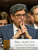 United States Secretary of the Treasury Jacob Lew appears before the US Senate Committee on Foreign Relations for the hearing to examine and review the Iran nuclear agreement on Capitol Hill in Washington, DC on Thursday, July 23, 2015.<br /> Credit: Ron Sachs / CNP