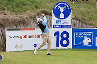 Zander Lombard (RSA) on the 18th tee during Round 2 of the Open de Espana 2018 at Centro Nacional de Golf on Friday 13th April 2018.<br /> Picture:  Thos Caffrey / www.golffile.ie<br /> <br /> All photo usage must carry mandatory copyright credit (&copy; Golffile | Thos Caffrey)