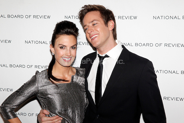 Elizabeth Chambers and Armie Hammer at the 2011 National Board of Review of Motion Pictures Gala at Cipriani 42nd Street in New York City. January 11, 2011. © Star Shooter / MediaPunch Inc.