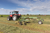 19.5.2020 Turning silage in Rutland <br /> ©Tim Scrivener Photographer 07850 303986<br />      ....Covering Agriculture In The UK....