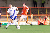 23/09/2000 Football League Division 3 Blackpool v Chesterfield<br /> <br /> 38201 Hughes attack<br /> <br /> © Phill Heywood