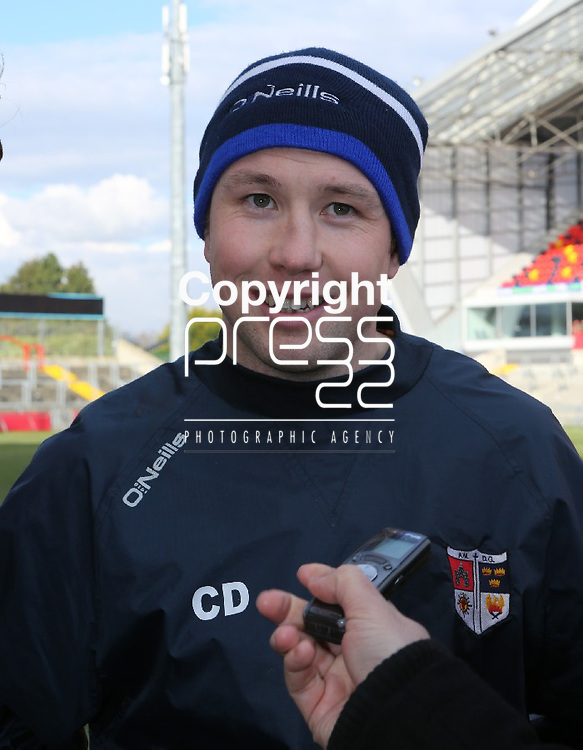18/3/2013   Munster Rugby Schools Senior Rugby Final at Thomond Park, Limerick  between Crescent College and Rockwell College.    Crescent's coach Conan Doyle.                   Picture Liam Burke/Press 22