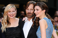 Kirsten Dunst , Viggo Mortensen and Daisy Bevan arriving for the UK Premiere of The Two Faces of January<br /> Curzon Cinema, Mayfair, London. 13/05/2014 Picture by: Steve Vas / Featureflash