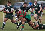 Mark Selwyn hangs on to Maka Tatafu as reinforcements arrive to help. Pat Walsh memorial pre-season rugby game between Manurewa & Waiuku played at Mountfort Park, Manurewa on 5th April, 2008. Waiuku led 12 - 8 at halftime, though Manurewa went on to win 30 - 23.