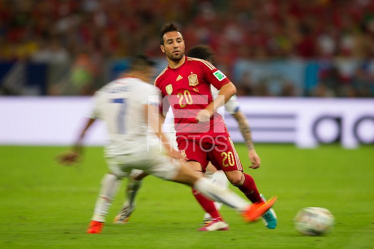 Motion blur of Santi Cazorla of Spain