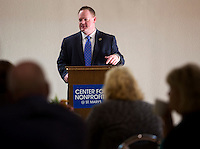 NWA Democrat-Gazette/JASON IVESTER <br /> Rogers Mayor Greg Hines talks on Wednesday, Sept. 16, 2015, inside the Center for Nonprofits in Rogers on a planned project for the center.