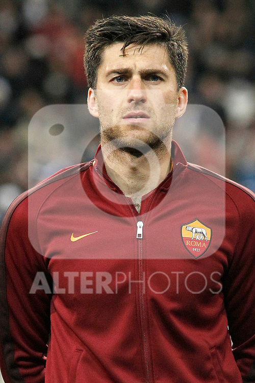 AS Roma's Ervin Zukanovic during UEFA Champions League match. March 8,2016. (ALTERPHOTOS/Acero)