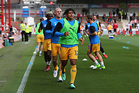 Reece James of Wigan, currently on loan from Chelsea, warms up pre-match during Brentford vs Wigan Athletic, Sky Bet EFL Championship Football at Griffin Park on 15th September 2018