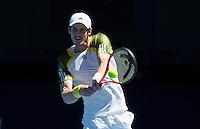 Andy Murray..Tennis - Australian Open - Grand Slam -  Melbourne Park  2013 -  Melbourne - Australia - Monday 14th January  2013. .© AMN Images, 30, Cleveland Street, London, W1T 4JD.Tel - +44 20 7907 6387.mfrey@advantagemedianet.com.www.amnimages.photoshelter.com.www.advantagemedianet.com.www.tennishead.net