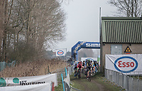 start of the women's race<br /> <br /> Women's Race<br /> Belgian National Cyclocross Championships 2018 / Koksijde