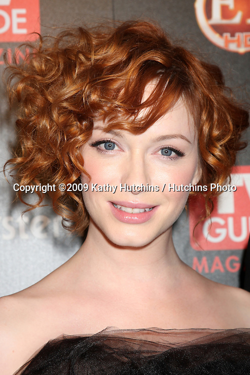 Christina Hendricks  arriving at the TV Guide Magazine Sexiest Stars Party at the Sunset Towers Hotel in West Hollywood, CA on.March 24, 2009.©2009 Kathy Hutchins / Hutchins Photo....                .