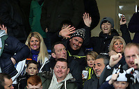 Swansea City fans during the Premier League match between Chelsea and Swansea City at Stamford Bridge, London, UK. Saturday 25 February 2017