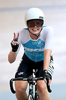 Michaela Drummond of West Coast North Island finishes first in the Elite Women Omnium 3 , Elimination race,  at the Age Group Track National Championships, Avantidrome, Home of Cycling, Cambridge, New Zealand, Sunday, March 19, 2017. Mandatory Credit: © Dianne Manson/CyclingNZ  **NO ARCHIVING**
