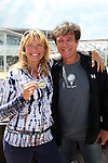 Guiding Light's Frank Dicopoulos with his wife Teja who won the Mixology Competition aboard the ship on Day 1 July 31, 2010 - So Long Springfield at Sea - A Final Farewell To Guiding Light sets sail from NYC to St. John, New Brunwsick and Halifax, Nova Scotia from July 31 to August 5, 2010  aboard Carnival's Glory (Photos by Sue Coflin/Max Photos)