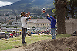 Boys Playing, Otovalo Market