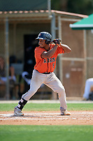 GCL Astros Gerry Castillo (8) at bat during a Gulf Coast League game against the GCL Marlins on August 8, 2019 at the Roger Dean Chevrolet Stadium Complex in Jupiter, Florida.  GCL Marlins defeated GCL Astros 5-4.  (Mike Janes/Four Seam Images)