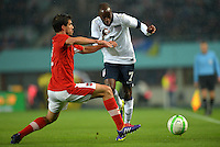 VIENNA, Austria - November 19, 2013: DaMarcus Beasley of USA and Gyorgy Garics of Austria during the international friendly match between Austria and the USA at Ernst-Happel-Stadium.