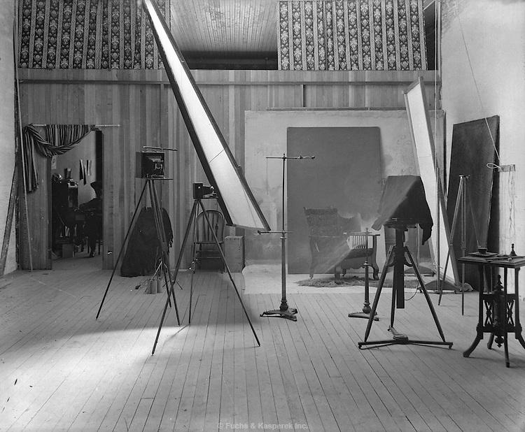 A photographer's studio, circa 1900.