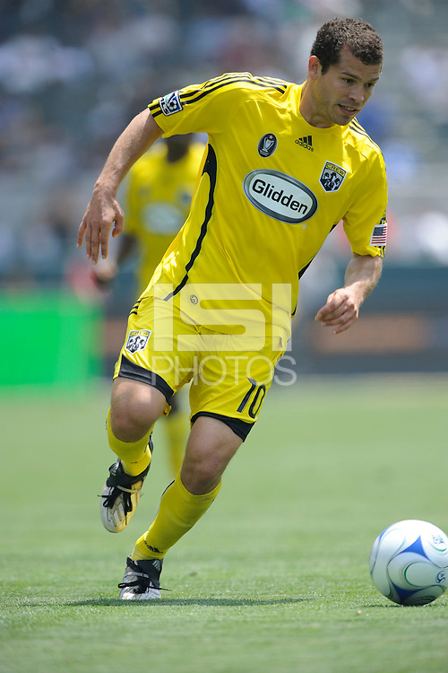 Columbus Crew (10) Alejandro Morano during a game against Los Angeles Galaxy in the second half at the Home Depot Center in Carson, CA on Sunday, May 17, 2009..