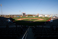 A general view of Hammons Field during a game between the Missouri State Bears and Southern Illinois University- Edwardsville Cougars on March 9, 2012 in Springfield, Missouri. (David Welker / Four Seam Images)