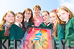 PAINTING: Pupils from Firies NS who were presented with this painting for winning the Trocaire Better World award for their research on exploring climate change and the water problems in Kenya l-r: Laura O'Connor, Emer O'Shea, Lucy O'Rourke, Eva Ryan, Fiona Bailey, Sarah O'Brien and Alison O'Sullivan.   Copyright Kerry's Eye 2008
