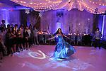 Elegant, festive, Bat Mitzvah  ballroom decor at the Renaissance Hotel.  Decor by X-Quisite Designs, Westchester, New York.