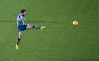 Sam Wood of Wycombe Wanderers clears the ball during the Sky Bet League 2 match between Wycombe Wanderers and Newport County at Adams Park, High Wycombe, England on 2 January 2017. Photo by Andy Rowland.