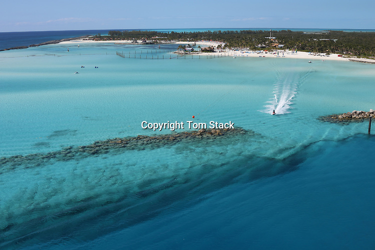 Jet skiing in the crystal clear waters of the Bahamas