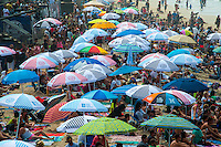 Crowed Beach at the Vans US Open of Surfing in Huntington Beach California