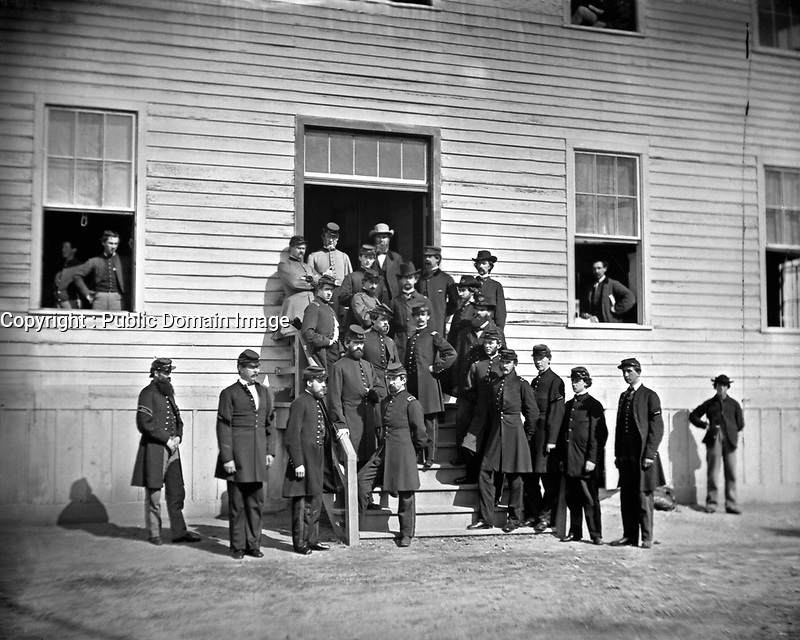 Surgeons of Harewood Hospital, Washington, D.C.  Mathew Brady Collection.  (Army)<br /> Exact Date Shot Unknown<br /> NARA FILE #:  111-B-327<br /> WAR & CONFLICT BOOK #:  217