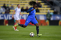 Columbus, Ohio - Thursday March 01, 2018: Griedge Mbock Bathy Nka during a 2018 SheBelieves Cup match between the women's national teams of the England (ENG) and France (FRA) at MAPFRE Stadium.