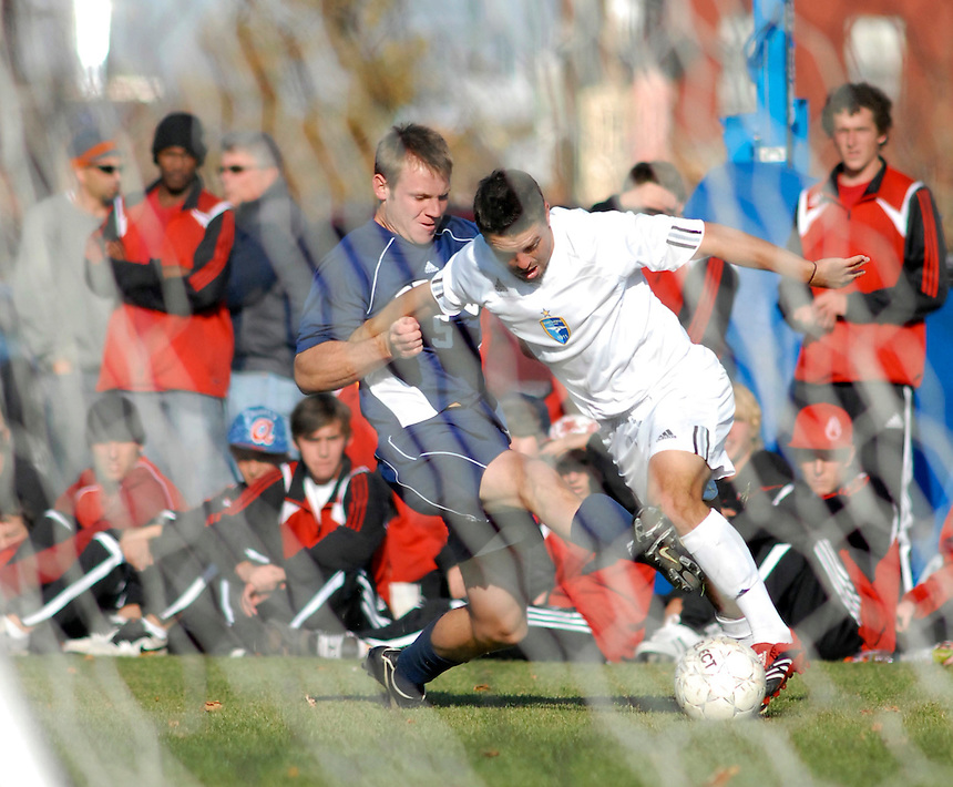 College soccer action - 2007 Fort Lewis College RMAC playoffs Metro State College regional semi final