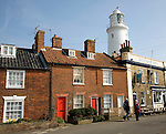Sole Bay Inn, lighthouse and cottages, Southwold, Suffolk, England