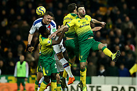 1st January 2020; Carrow Road, Norwich, Norfolk, England, English Premier League Football, Norwich versus Crystal Palace; Connor Wickham of Crystal Palace attempts to connect with a corner kick - Strictly Editorial Use Only. No use with unauthorized audio, video, data, fixture lists, club/league logos or 'live' services. Online in-match use limited to 120 images, no video emulation. No use in betting, games or single club/league/player publications