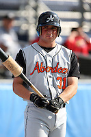 July 14th 2008:  Chad Durakis of the Aberdeen Ironbirds, Class-A affiliate of the Baltimore Orioles, during a game at Dwyer Stadium in Batavia, NY.  Photo by:  Mike Janes/Four Seam Images