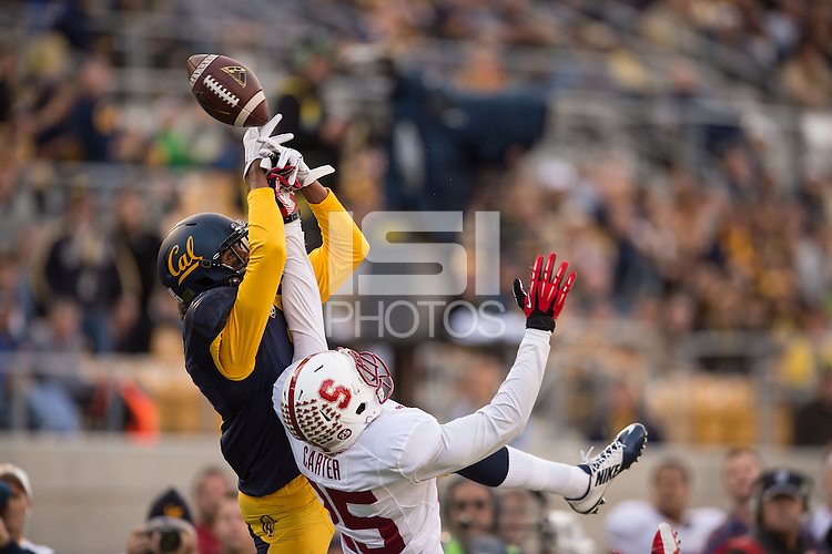 BERKELEY, CA - November 22, 2014: The Big Game. The Stanford Cardinal vs the Cal Golden Bears in Berkeley, California. Final score, Stanford Cardinal 38, Cal Golden Bears 17.